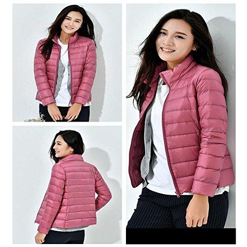 Jacket Puffer Down Weight Winter Coat Pink Women's Packable KINDOYO Ultra Light qwtUIB