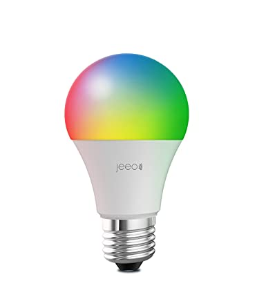 Jeeo Smart Wi Fi LED Color Light Bulb 800 Lumens 60W Equivalent