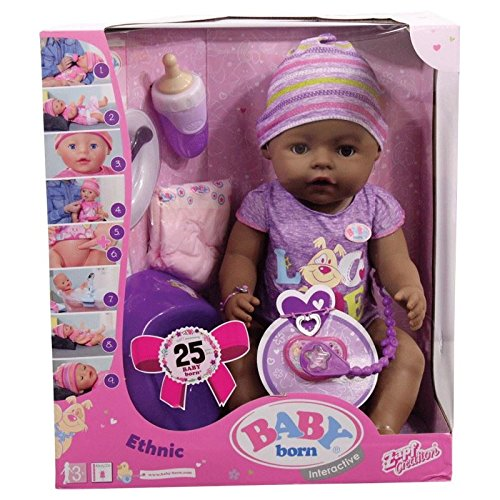 Baby Born Interactive Ethnic Girl Doll Parts Accessories Zapf Creations - Baby Born Girl Doll