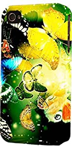 Beautiful Butterflies Dimensional Case Fits iPhone 4 or iPhone 4s by Maris's Diary