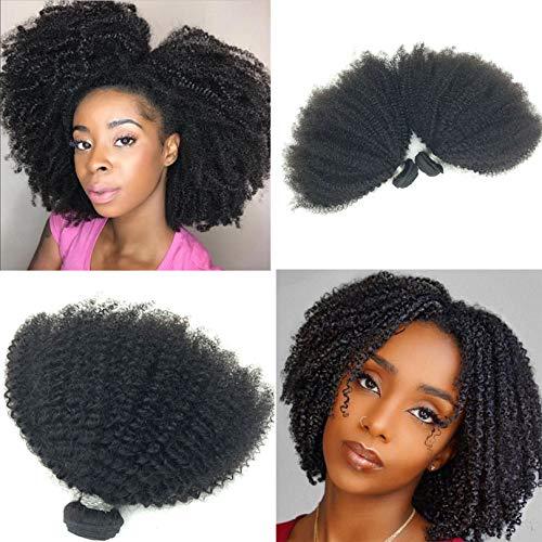 Brazilian Afro Kinky Curly 4B/4C Bundles Hair 10inch 1PC 100g Brazilian Virgin Remy Human Hair Weaves Natural Black Color (1 bundle 10inch, natural black) (Best Weave For 4b Hair)