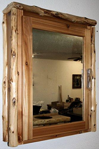 Cedar Medicine Cabinet - Cedar Log Medicine Cabinet