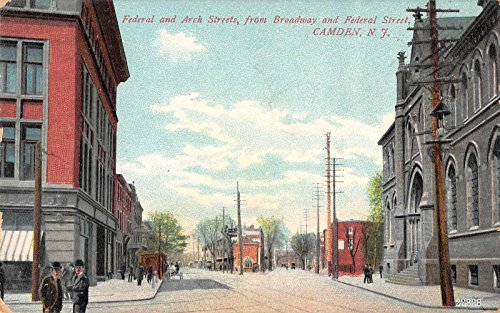 Camden New Jersey Federal Arch Streets Antique Postcard (Arch Jersey)