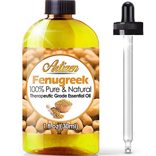 Artizen Fenugreek Essential Oil (100% PURE & NATURAL - UNDILUTED) Therapeutic Grade - Huge 1oz Bottle - Perfect for Aromatherapy, Relaxation, Skin Therapy & More! (Best Treatment For Breast Enlargement)