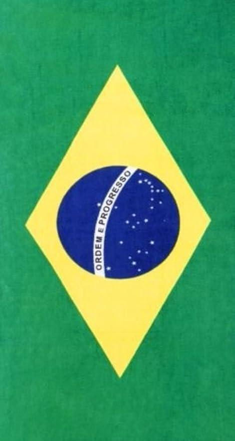amazon com brazilian flag velour brazilian beach towel 30x60