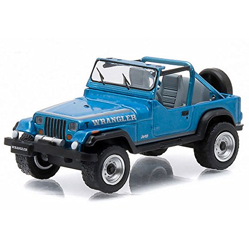1/64 1987 Jeep Wrangler, Blue, All Terrain Series 3