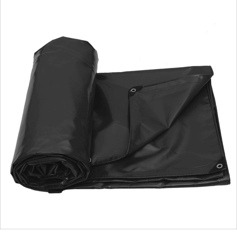JIANFEI オーニング 防水 耐寒性日焼け止め耐性PVC、サイズ6、厚さ0.6mm (色 : Black, サイズ さいず : 4.9mx2.9m) B07FK86WHN 4.9mx2.9m|Black Black 4.9mx2.9m