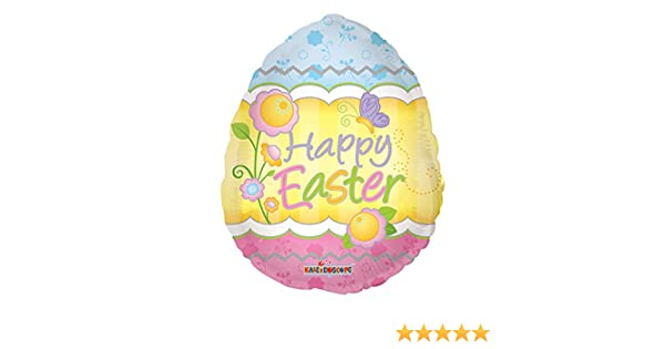 """Easter Bunny Chick Egg Hunt Foil Latex Balloons 18/"""" 12/"""" Green Pink Yellow"""