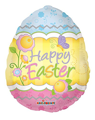 "Happy Easter Egg Shaped 18"" Mylar Balloon Bulk (5 Pack)"