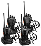 Arcshell Rechargeable Long Range Two-Way Radios with Earpiece 4 Pack UHF 400-470Mhz Walkie Talkies Li-ion Battery and Charger Included: more info