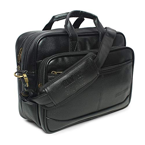 ENGLISH CHANNEL Amazing Basics Milestone Faux Leather 14 inches Laptop Messenger Bag || Office Laptop Briefcase (Black) 11inch Laptop Compatable (B084TQ4582) Amazon Price History, Amazon Price Tracker