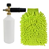 "Adjustable Car Wash Foam Gun,Car Wash Pressure Washer Jet Wash 1/4"" Quick Release Foam Cannon Plus Car Wash Mitt by cnomg"