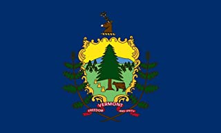 product image for Valley Forge Flag 2-Foot by 3-Foot Nylon Vermont State Flag with Canvas Header and Grommets
