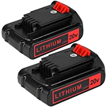[Patrocinado] 2packs Battery for Black and Decker 20v Max 2500mAh,LBXR20 Replacement Battery LBXR20 LB20 LBX20 LBXR2020-OPE LBXR20B-2 LB2X402Extended Run Time Cordless Power Tools Battery come with a pair of golves