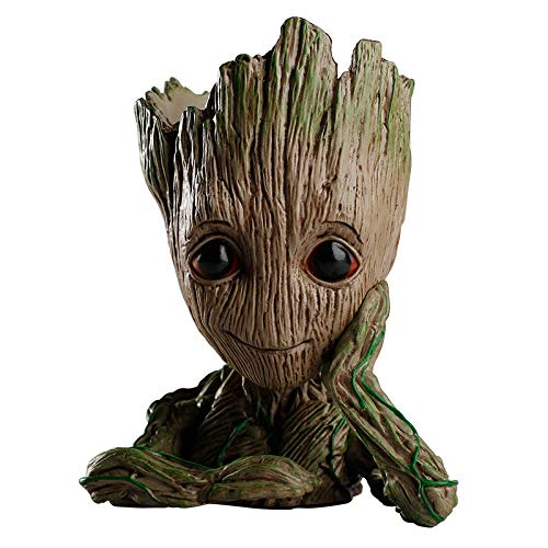 Best Quality - Flower Pots & Planters - Flower pots Planter Pot Baby Action Bonsai Model Penholder Drop Shipping Tree Man Hero Creative Guardians of The Galaxy grootted - by SeedWorld - 1 PCs ()