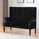 Coaster Home Furnishings 902994 Settee, Black/Black