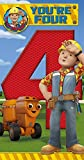 Bob The Builder 4th Birthday Card And Badge