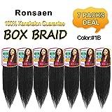 Best Hair For Crochet Braids - Ronsaen Box Braids Crochet Hair 100% Kanekalon Crochet Review