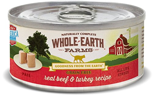 Whole Earth Farms 24 Case Grain Free Real Beef & Turkey Recipe, 2.75 oz