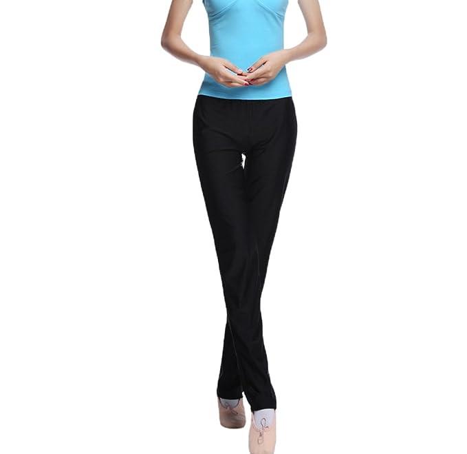LINNUO Mujer Pantalones Yoga Alta Cintura Pantalones para Yoga Running De Ballet Dancing