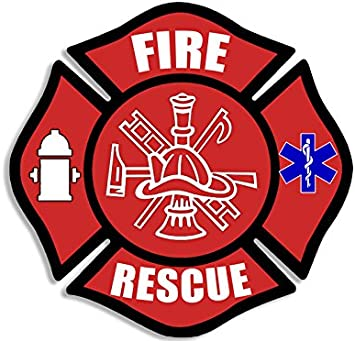 """Firefigher Decal Firefighter EMT 5/"""" Exterior window Decal with FREE SHIPPING"""