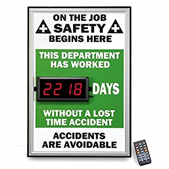 Verde interior seguridad en el trabajo señal - Contador de
