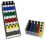 CanDo 10-3846 Digi-Flex Multi Large Clinic Pack, Standard, 5 Pre-Built Multis Plus 20 Button Set with Rack
