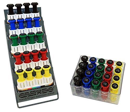 CanDo 10-3846 Digi-Flex Multi Large Clinic Pack, Standard, 5 Pre-Built Multis Plus 20 Button Set with Rack by Cando (Image #1)