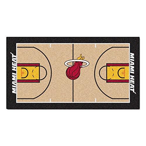 FANMATS  9314  NBA Miami Heat Nylon Face NBA Court Runner-Large - Miami Heat Floor