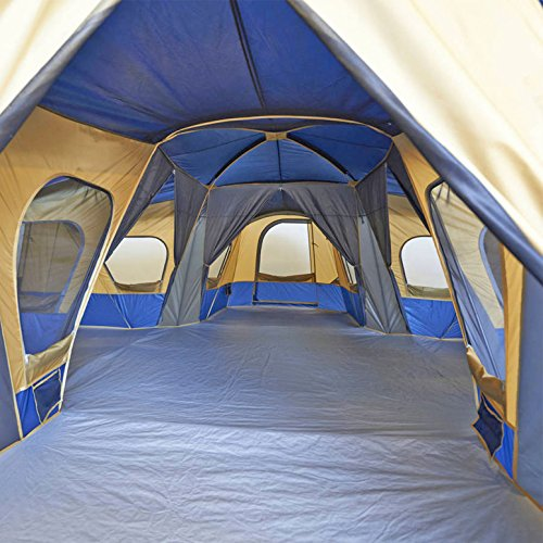 Family Cabin Tent 14 Person Base Camp 4 Rooms Hiking Camping Shelter Outdoor