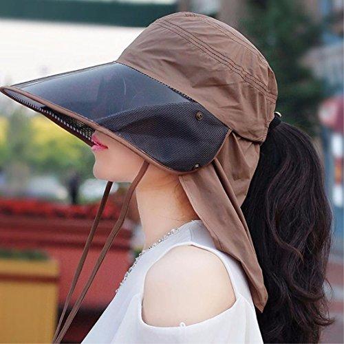 HAPPY-Cap Sombrero Mujer sombrilla Bicicleta Transpirable Gran Sol ...