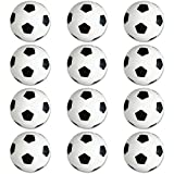 Soccer Sports Stress Balls Bulk Pack of 12 Relaxable 2'' Stress Relief Soccer Squeeze Balls
