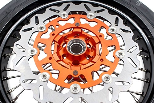 KKE KTM SUPERMOTO WHEELS RIMS SET KIT & TIRE EXC SX XCW XCF 125 250 350 530 3.5/5.0 SUPERMOTO WHEEL SET WITH TIRE & DISC by KKE (Image #7)
