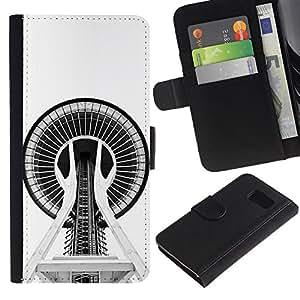 All Phone Most Case / Oferta Especial Cáscara Funda de cuero Monedero Cubierta de proteccion Caso / Wallet Case for Sony Xperia Z3 Compact // Building Architecture Space Needle