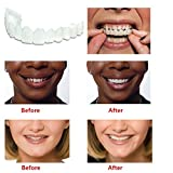 (US) Timall Teeth Cosmetic,Cosmetic Dentistry Snap on Smile Teeth,Comfort Fit Flex,Comfortable Denture Care,Teeth Whitening