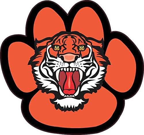 "Tiger Paw Graphic Mascot Car Bumper Sticker Decal 5/"" x 5/"""