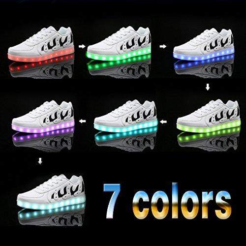 Enfants Usb Chaussure Hommes Chaussures Savent Charge Baskets O Et Couleurs De Adultes Conduit Unisexe Pour 7 Sport Lumineux Femmes N Loisirs wxwHnZt