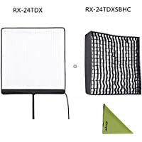 Falcon Eyes RX-24TDX 150W Roll-Flex LED Light with RX-24TDXSBHC Honeycomb Grid Softbox Bi-Color Dimmable 3000K-5600K Light Compatible with DMX 512(24TDX+RX-24TDXSBHC)
