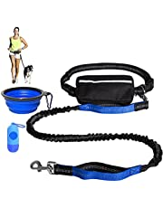 Dog Running Leash Hands Free Dog Leash for Small and Medium Dog, Dog Waist Leash for Running, Training, Walking Up to 33 Ib, Adjustable Waist Belt with Zipper Bag, Reflective Stitches