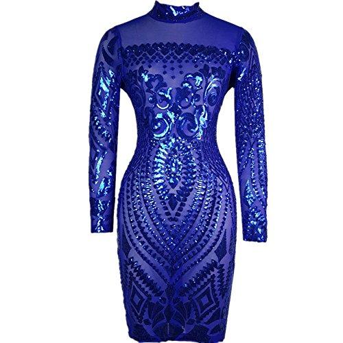 Blue Sequin Dress - 5