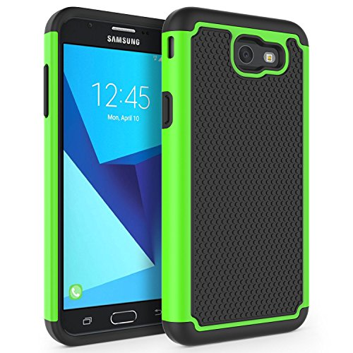 - Galaxy J7 V Case, Galaxy J7 Sky Pro Case, Galaxy J7 Perx Case, Galaxy Halo Case, SYONER [Shockproof] Defender Phone Case Cover for Samsung Galaxy J7V/J7 2017 Released [Green]