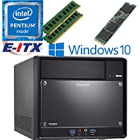 Shuttle SH110R4 Intel Pentium G4600 (Kaby Lake) XPC Cube System , 16GB Dual Channel DDR4, 480GB M.2 SSD, DVD RW, WiFi, Bluetooth, Window 10 Pro Installed & Configured by E-ITX
