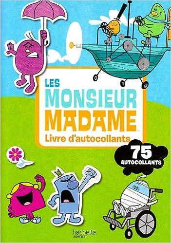Les Monsieur Madame Livre D Autocollants Amazon Fr