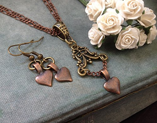 8th 7th Wedding Anniversary Gifts For Her Copper Bronze Heart