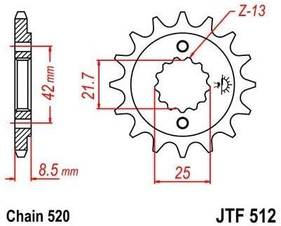 550 ZEPHYR PIGNON 15 DENTS 400 ZXR Compatible avec//Remplacement pour ER5 JTF512.15 500 GPZ//EN//KLE