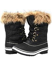 GLOBALWIN Women's 1837 Winter Snow Boots Black Size: 7