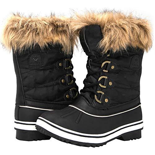 GLOBALWIN Women's 1838 Black Winter Snow Boots 7M ()