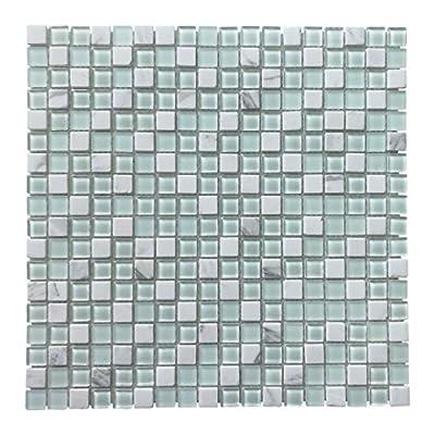 Art3d Glass Mosaic Tiles Stone Mosaic Tiles Decorative Wall Tiles for Kitchen/Bathroom Backsplashes