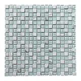 Art3d Glass Tile Stone Mosaic Decorative Wall Tile for Kitchen Backsplash (4 Pack)