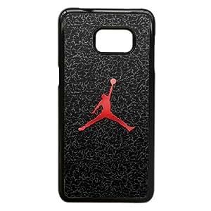 Jordan Logo O2X16C5DC funda Samsung Galaxy Note 5 Borde caso funda negro S463R0